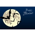 bats in the moonlight vector image vector image