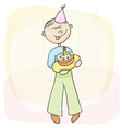 Birthday celebration with cake vector image vector image