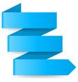 Blue paper arrow vector image vector image