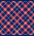 blue red and white patriotic tartan seamless vector image