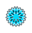 blue snowflake icon isolated vector image