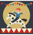 boy sitting on horse vector image