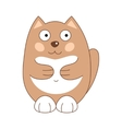 brown funny fatty cat vector image