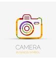 Camera icon company logo business symbol concept vector image