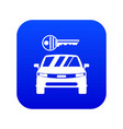 car and key icon digital blue vector image