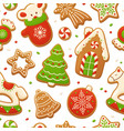 cartoon gingerbread cookies for celebration design vector image