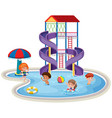 children at a waterpark vector image vector image