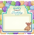 Childrens greeting background with the birthday vector image vector image