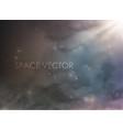 cosmic space with nebula and smoke stars vector image