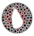 covid19 virus stencils circle sri lanka map mosaic vector image vector image