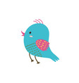 cute flying bird blue bird isolated element vector image