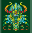 dragon coloring book anti-stress vector image vector image