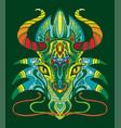 dragon coloring book anti-stress vector image
