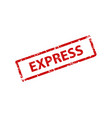 express stamp texture rubber cliche imprint web vector image
