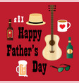 fathers day hipster dad vector image vector image