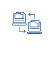files exchange line icon concept files exchange vector image vector image