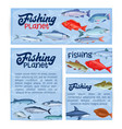 fish banners seafood temlplate vector image vector image