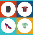 flat garment set of casual stylish apparel t vector image vector image