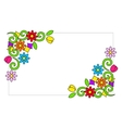 Frame with colorful flowers vector image vector image