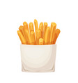french fries in a paper box vector image vector image