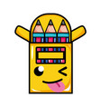 funny and tender colored pencils kawaii vector image vector image