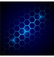 futuristic blue honeycomb pattern hexagonal vector image