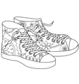 gumshoes coloring vector image vector image