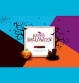 halloween sale banner with pumpkin vector image vector image
