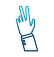 hand number three sign vector image vector image