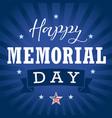 happy memorial day usa star ribbon stripes vector image vector image