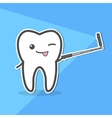 Healthy tooth makes selfie vector image vector image
