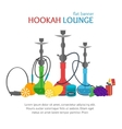 Hookah Lounge Banner vector image vector image