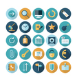 icons flat line business concept vector image vector image