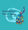 india happy independence day colorful poster vector image vector image