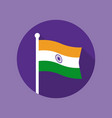 india national flag flat icon vector image