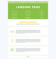 landing page concept flat website design template vector image