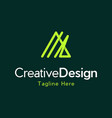 letter a outline creative business modern logo vector image vector image