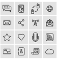 line communication icon set vector image vector image