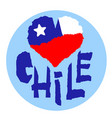 love chile america vintage national flag in vector image