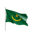 mauritania realistic flag vector image vector image