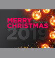 merry christmas dark background design vector image vector image