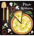 Mushroom Pizza with vector image