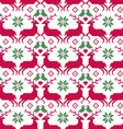 nordic seamless reindeer and birds vector image vector image
