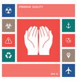 open hands icon elements for your design vector image
