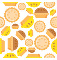 pie seamless pattern bakery product flat design vector image vector image