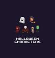 pixel art halloween vector image