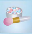 realistic mockup open bronzing pearls bo vector image vector image