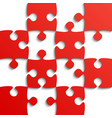 red puzzle pieces - jigsaw - field for chess vector image vector image