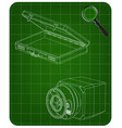 safe and case on a green vector image vector image