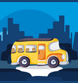 school bus in the city vector image